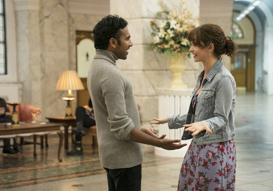 "Himesh Patel and Lily James in ""Yesterday""."